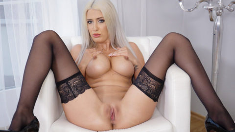Blanche Summer in Black Stockings