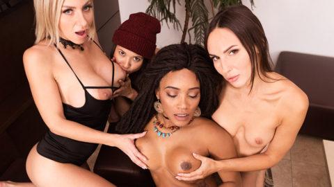 Orgy with Lilu Moon, Nathaly Cherie, Kiki Minaj & Jade Presley